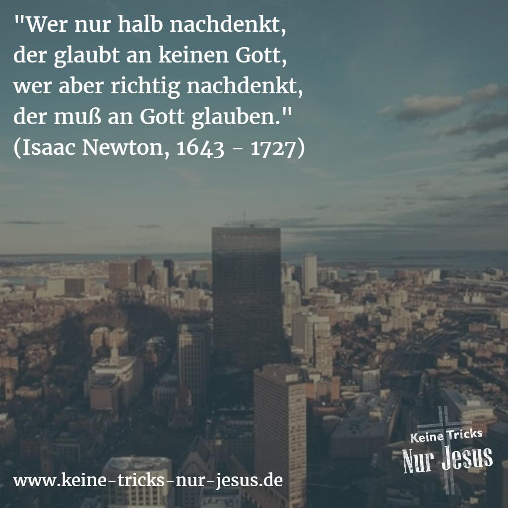 Gott, Glaube und der Wissenschaftler Issac Newton