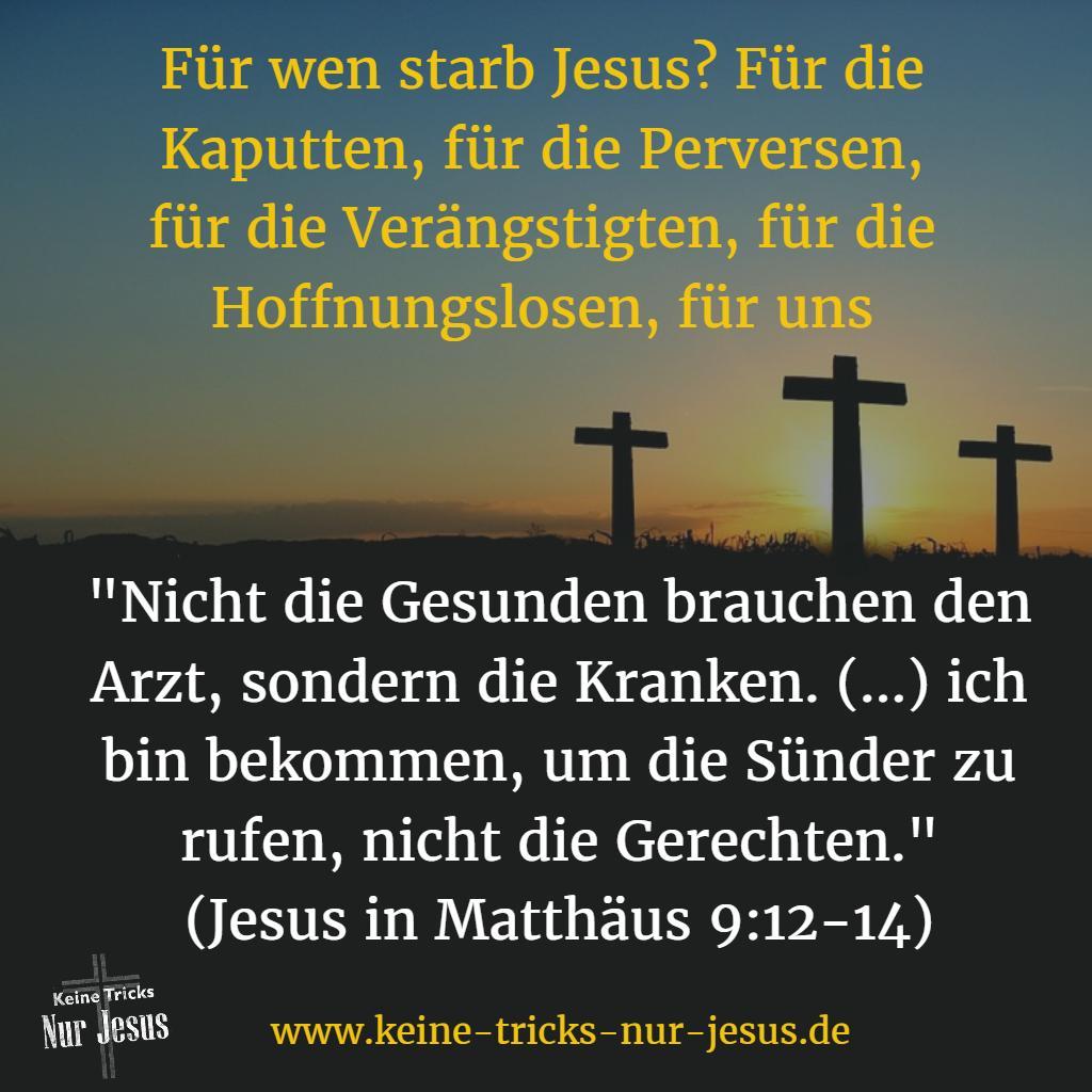 Opfer von Jesus für Sünder