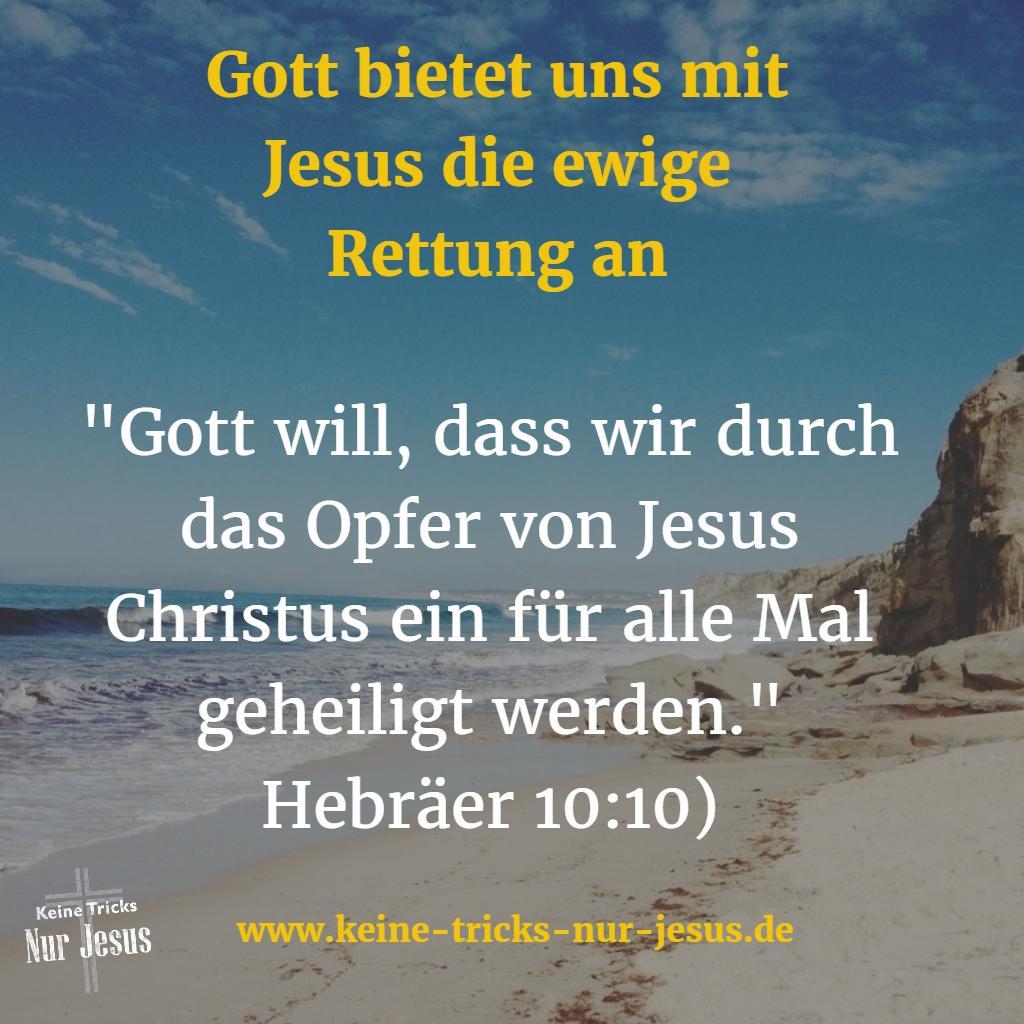 Geheiligt durch Jesus