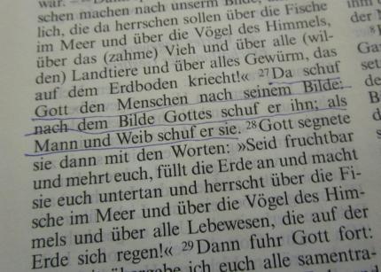 Dann sagte Gott zu Adam und Eva... und nicht zu Adam und Erwin