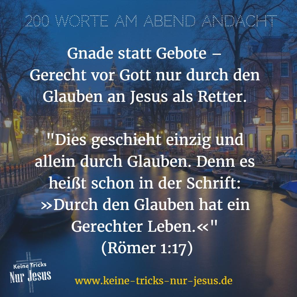 200 Worte Andacht am Abend
