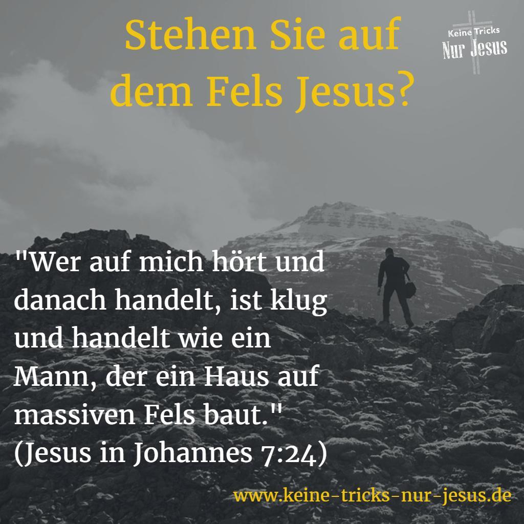 Der Fels Jesus bietet herrliche Sicherheit