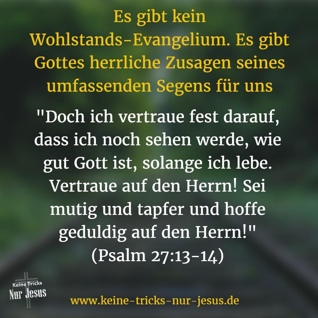 Kein Wohlstandsevangelium, sondern Gottes umfassender Segen