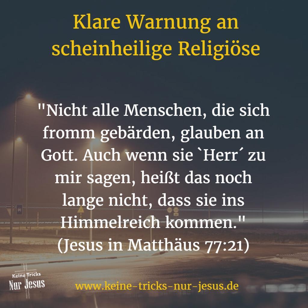 Warnung von Jesus an Religiöse