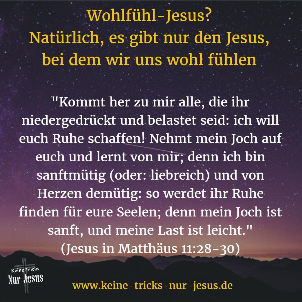 Wir fühlen uns wohl mit Jesus