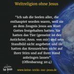 Auf dem Weg zur Weltreligion ohne Jesus