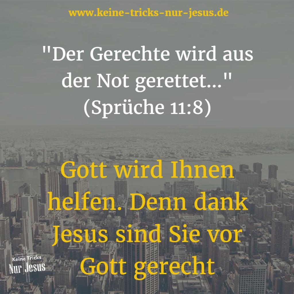 Gerecht vor Gott dank Jesus
