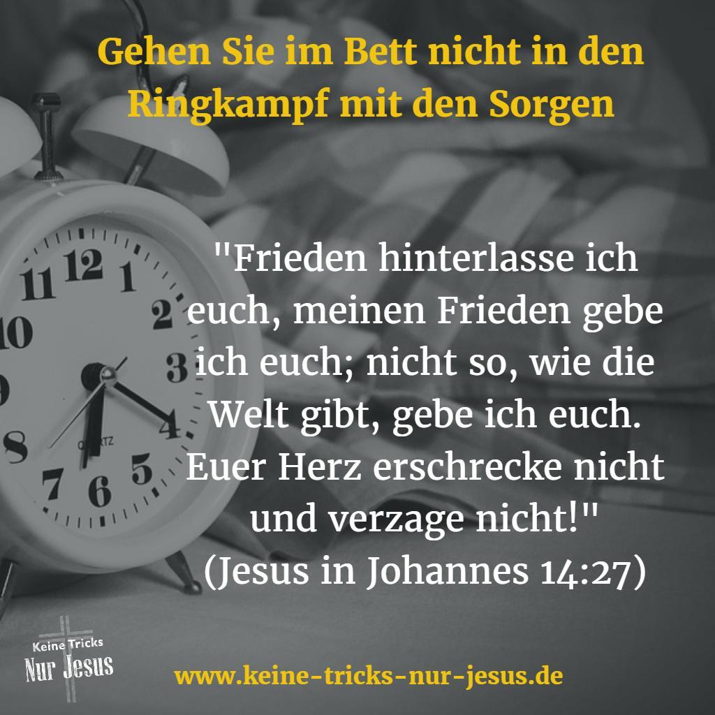 3 Bibelstellen für Ihren geruhsamen Schlaf