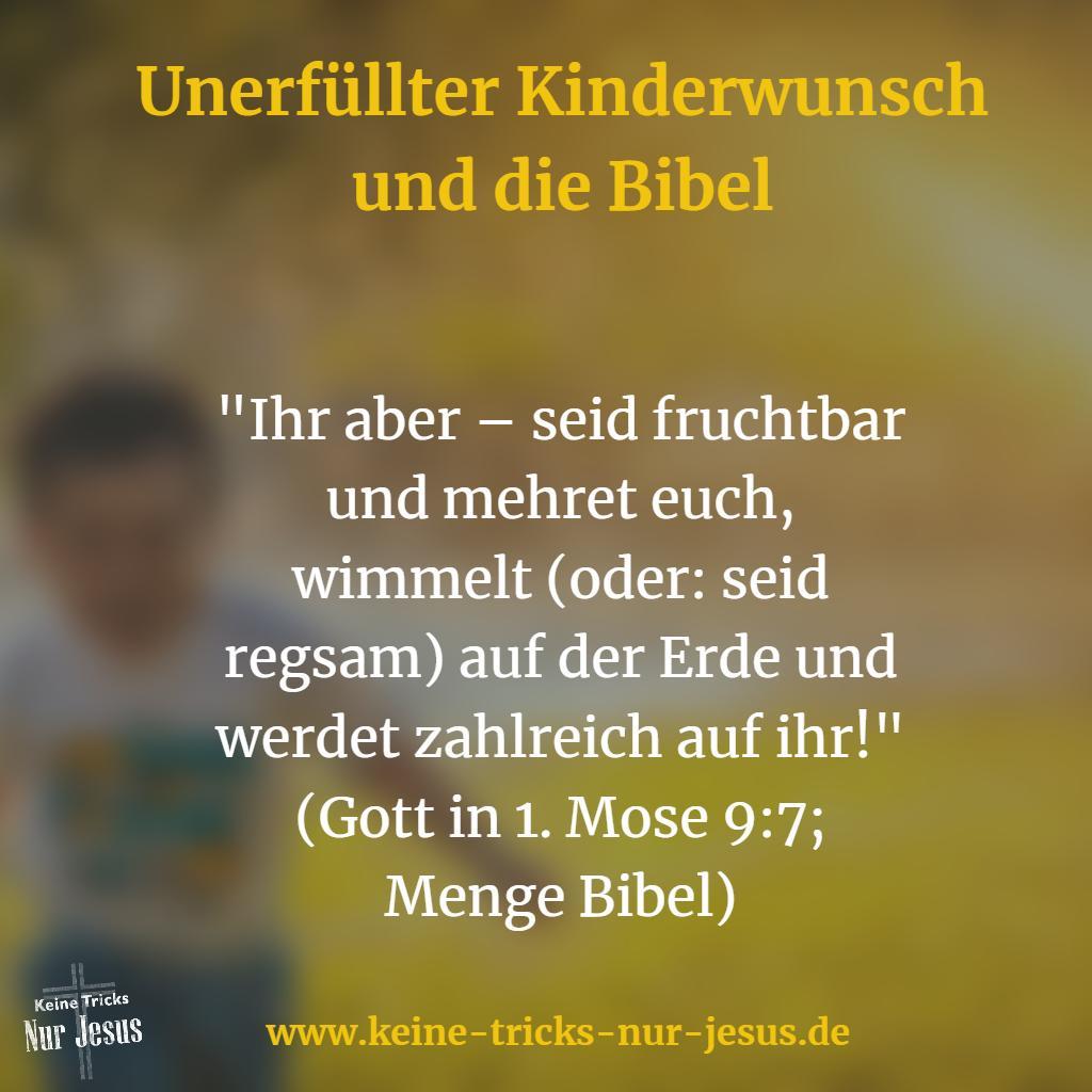 Kinderlosigkeit und Bibel