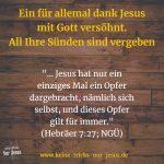 Unsere Identität als Jesus-Schäfchen: Unwiderruflich durch Jesus vor Gott gerecht