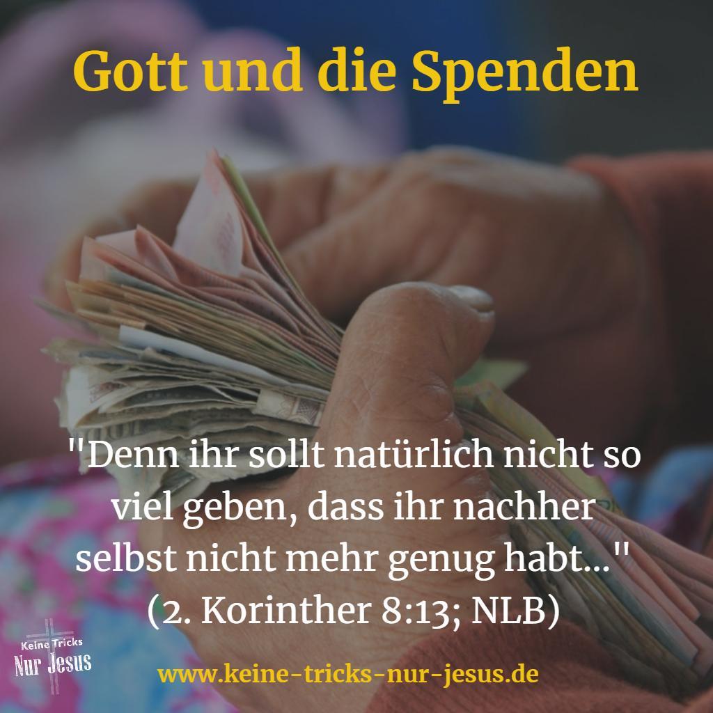 Spenden Bibelvers