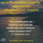 Sünden trennen einen Jesus-Gläubigen nicht mehr von Gott