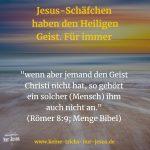 Heiligen Geist durch Sünden wieder verlieren? Nein, das geht nicht