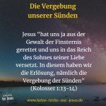 Jesus schenkt uns unsere Erlösung und ewige Versöhnung mit Gott