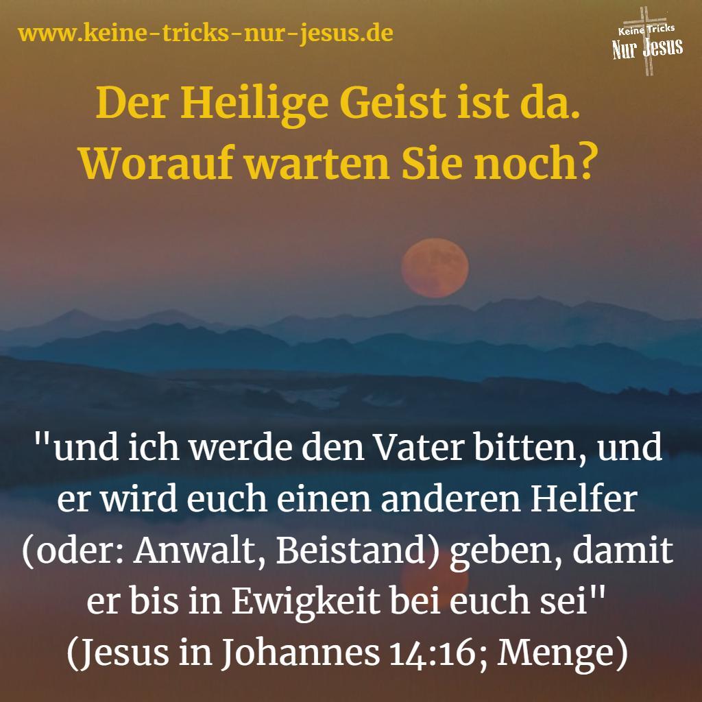 Die einen sagen, sie hätten den Heiligen Geist noch gar nicht; andere sagen, sie hätten ihn, aber nicht genug davon. Beide sind Opfer dämonischer Lügerei