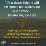 Hören Sie auf das, was Gott Ihnen sagt? Folgen Sie seiner Anweisung vom Berg der Verklärung?
