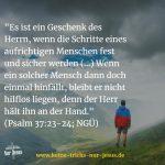 Wenn Sie über die Sünden stolpern, stützt Gott Sie mehr als gut. Lernen Sie vom Psalm 37
