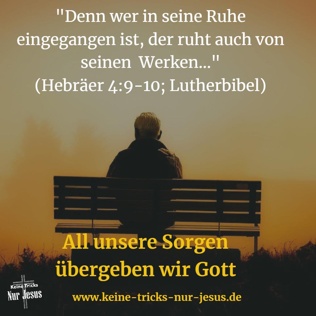 In Gottes Land der Ruhe eintreten. Sie sind Bürger von Gottes ...