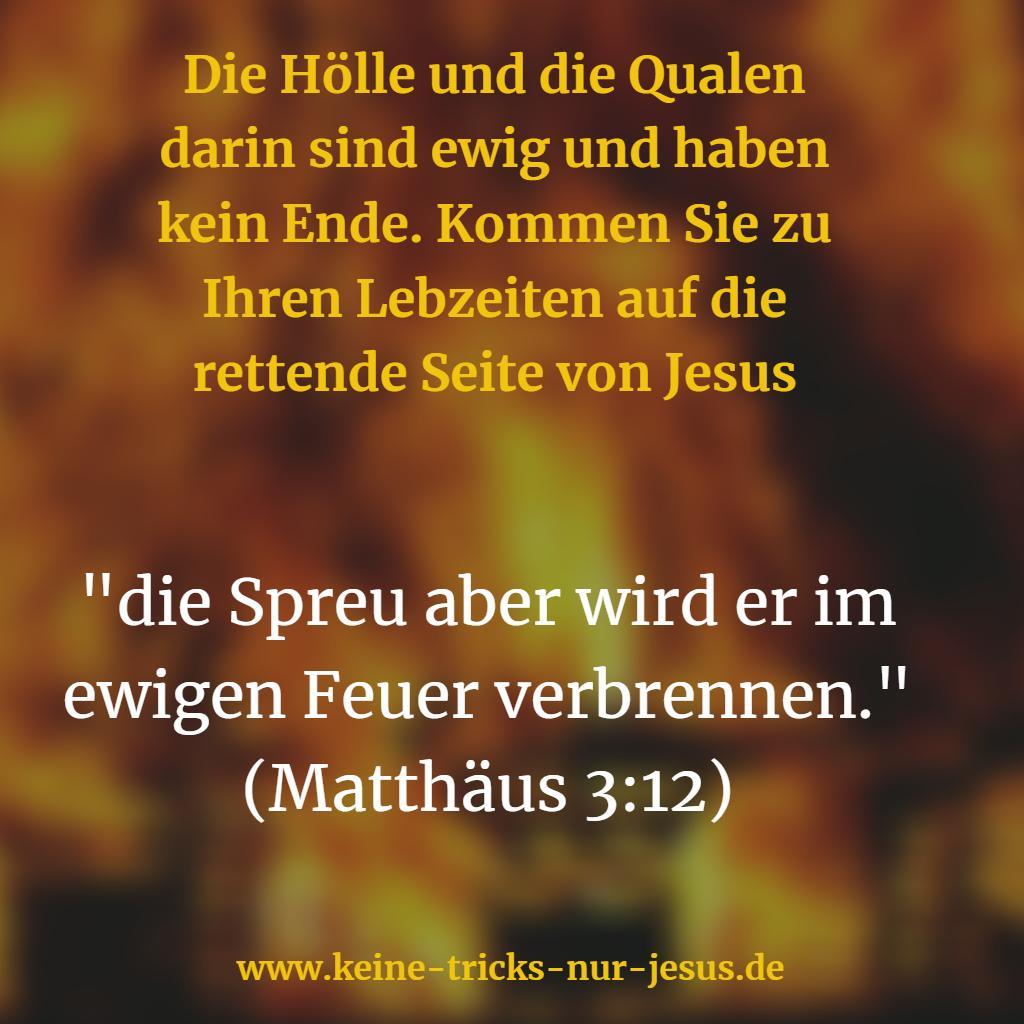 Auch Johannes der Täufer teilt uns mit, daß die Qualen in der Hölle ewig ohne Ende sind