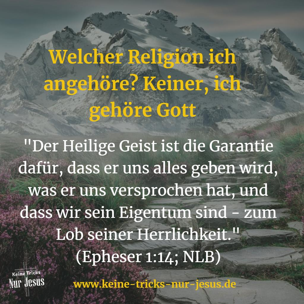 Jürgensen, welcher Religion gehören Sie an? Keiner, ich gehöre Gott