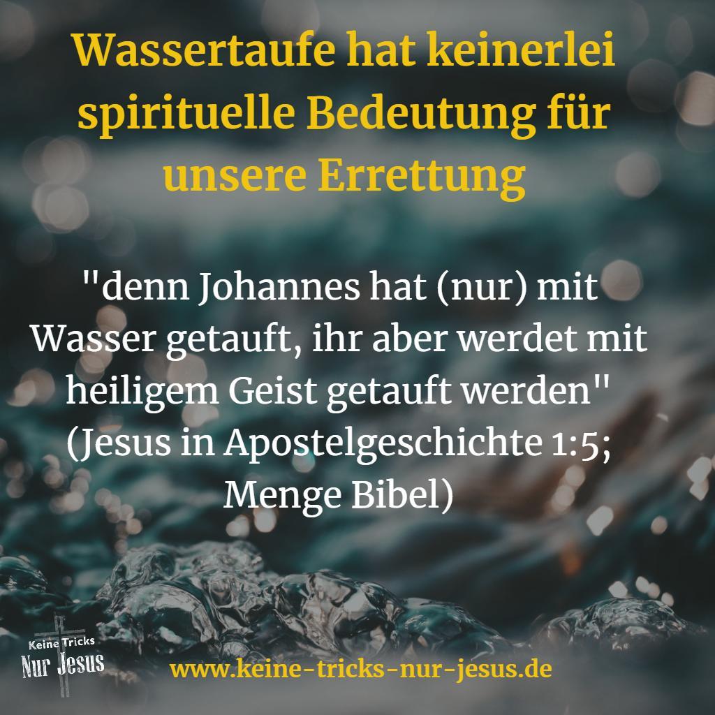 Jesu Letzte Anordnungen Taufe Mit Dem Heiligen Geist Keine