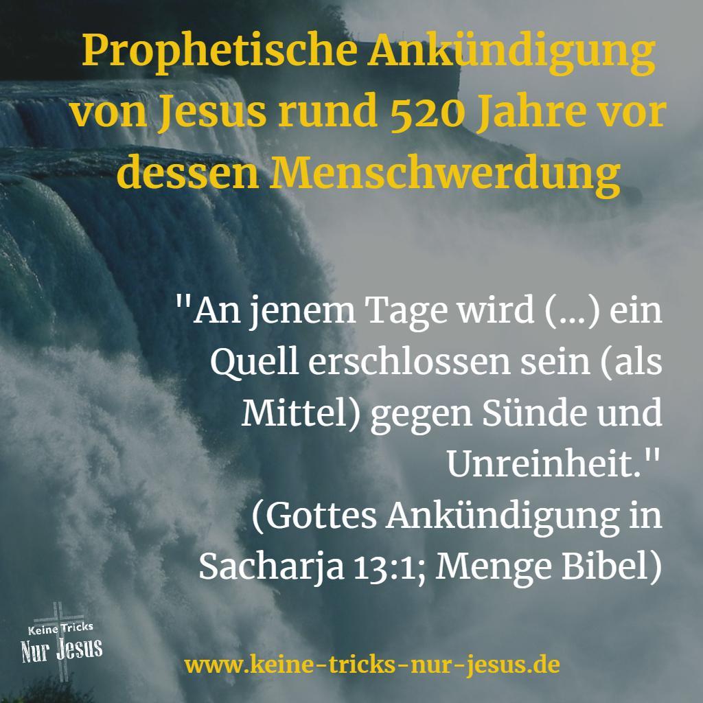 Bibel Prophezeiung über Jesus