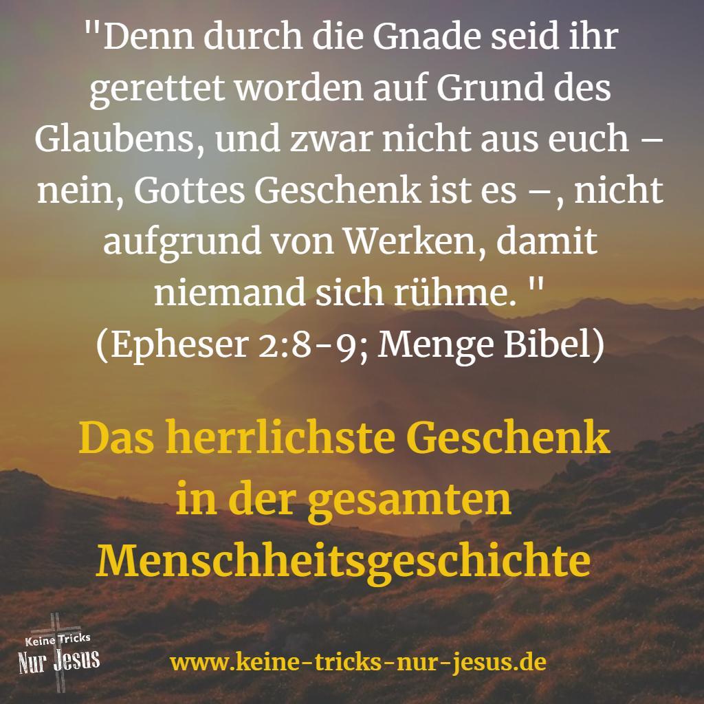 Geschenk der Gnade von Jesus