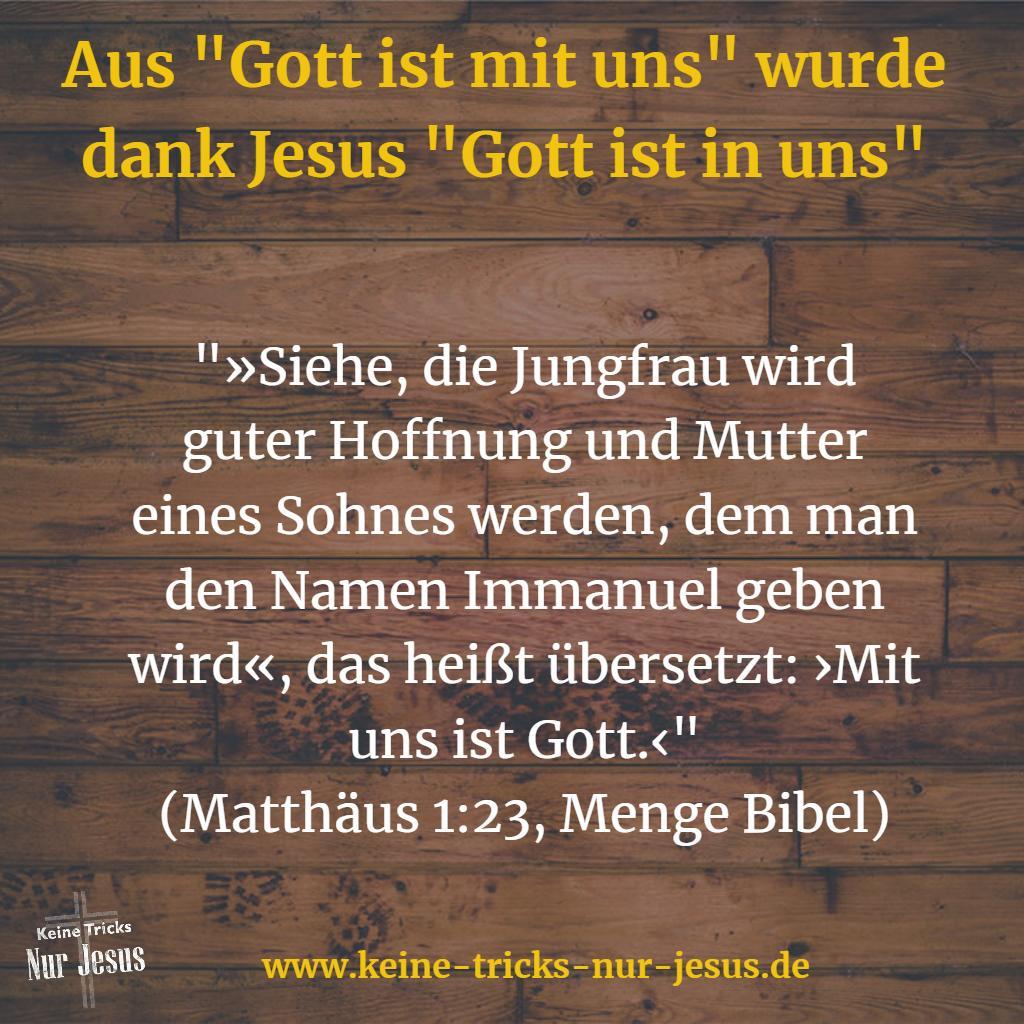 Immanuel Gott ist mit uns