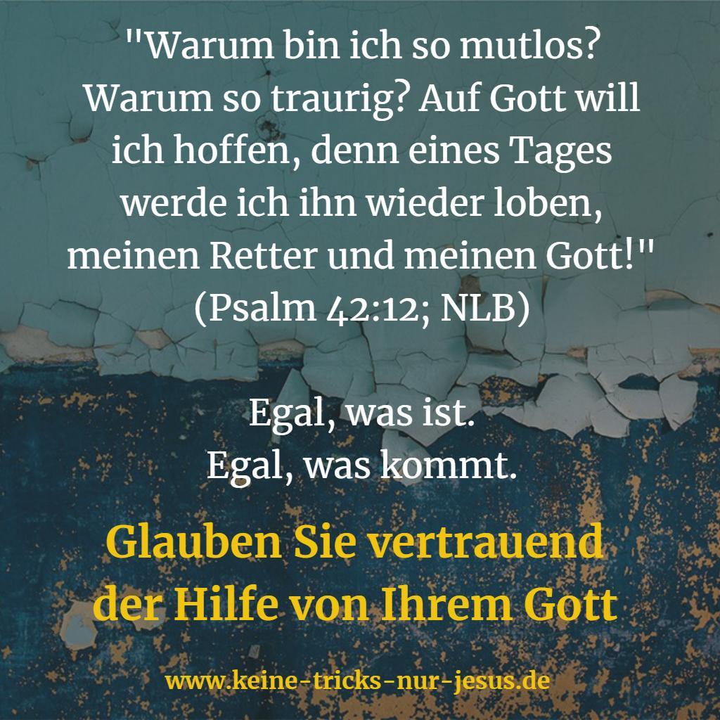 Mutlosigkeit und Traurigkeit Bibelvers