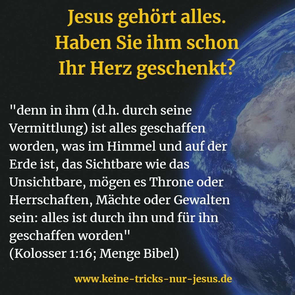 Schöpfung Jesus