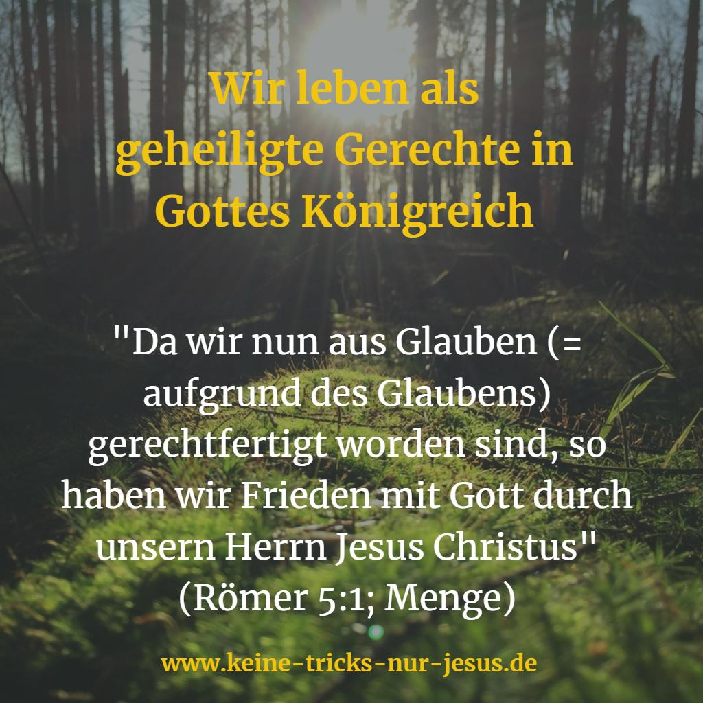 Gerechte in Gottes Königreich