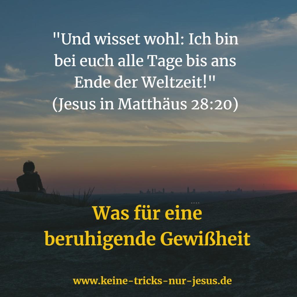 Jesus ist bei uns