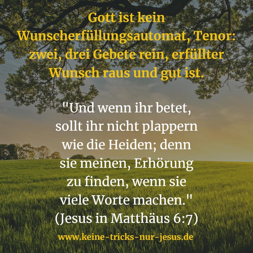 Gott erfüllt Wünsche