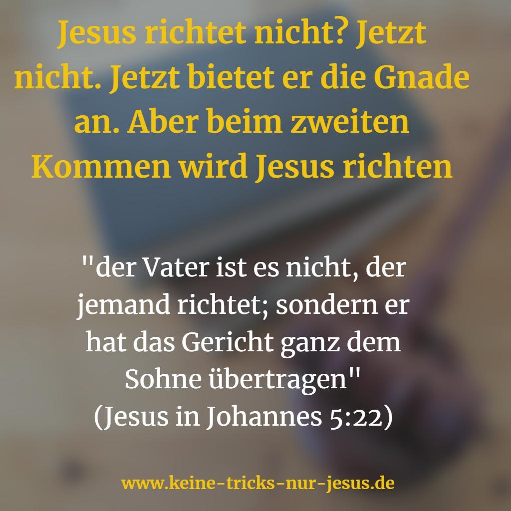 Jesus bestraft die Frevler