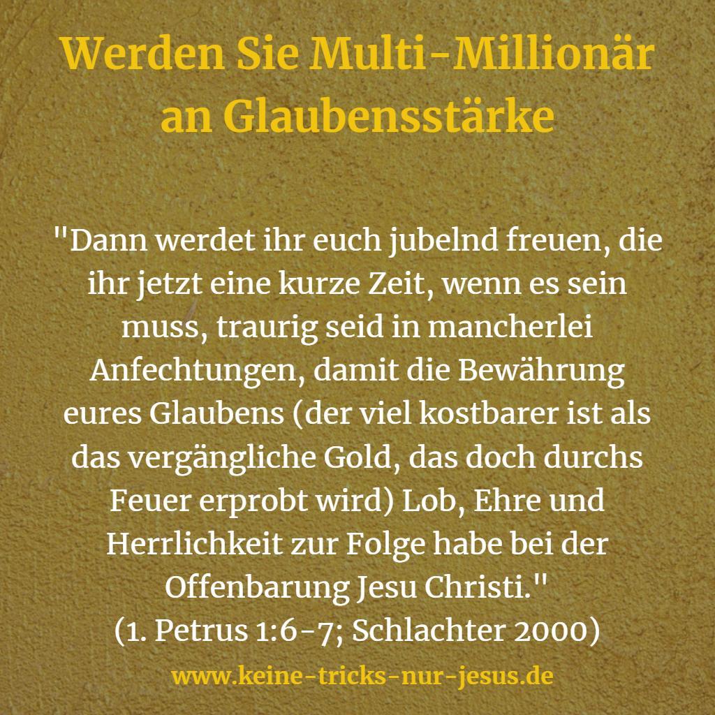 Glaube wertvoller als Gold