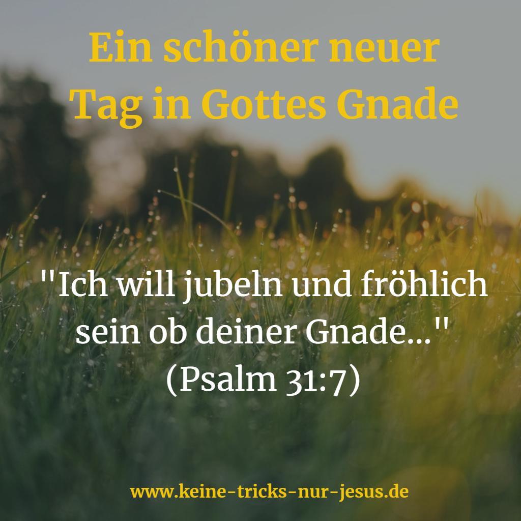 Fröhlich wegen Gottes Gnade