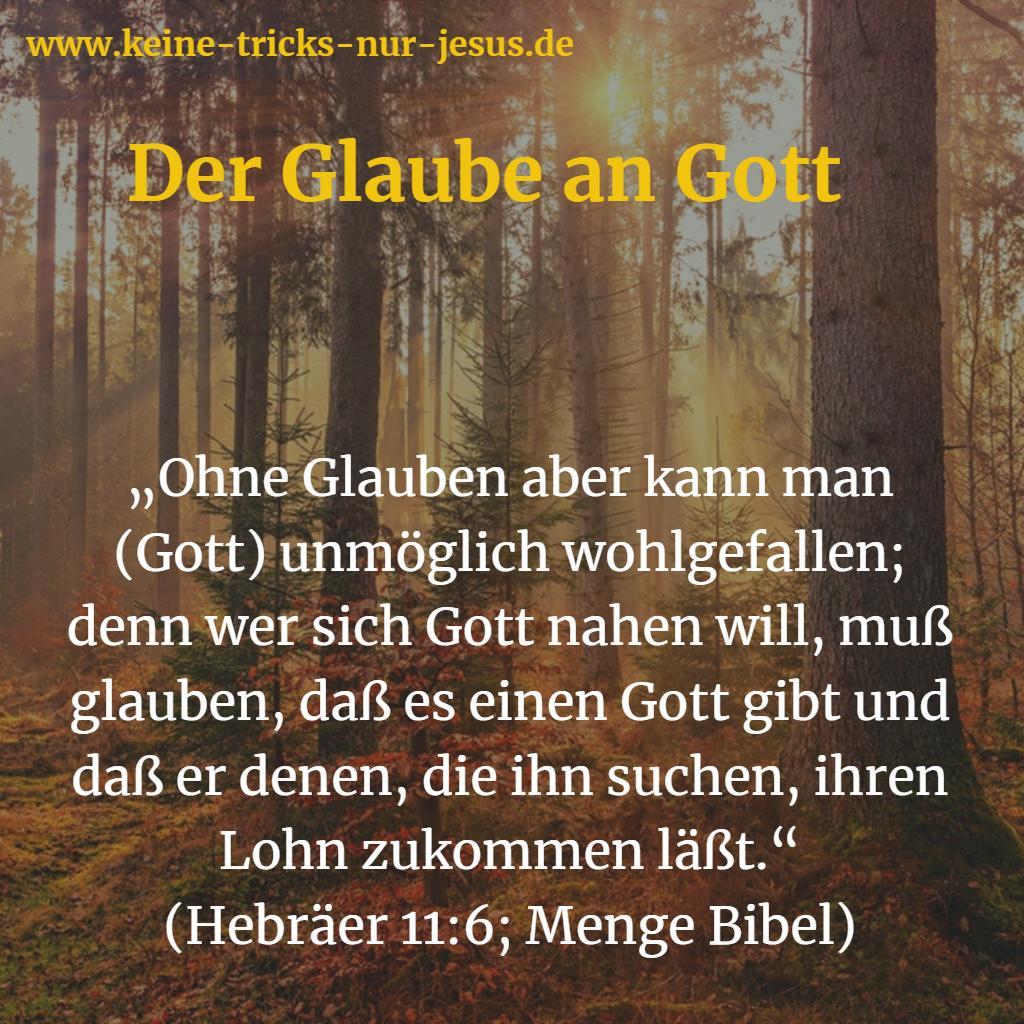 Der Glaube an Gott