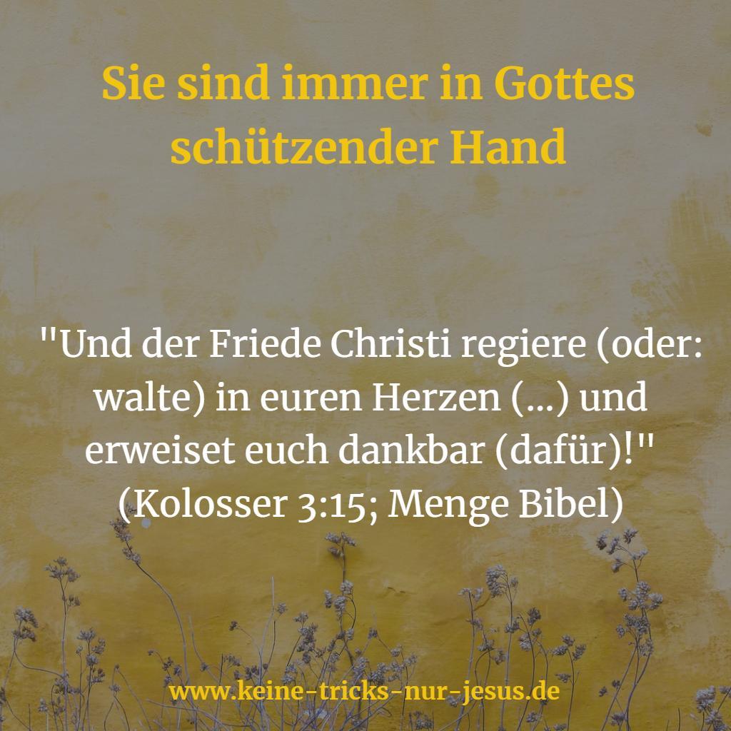 In Gottes schützender Hand