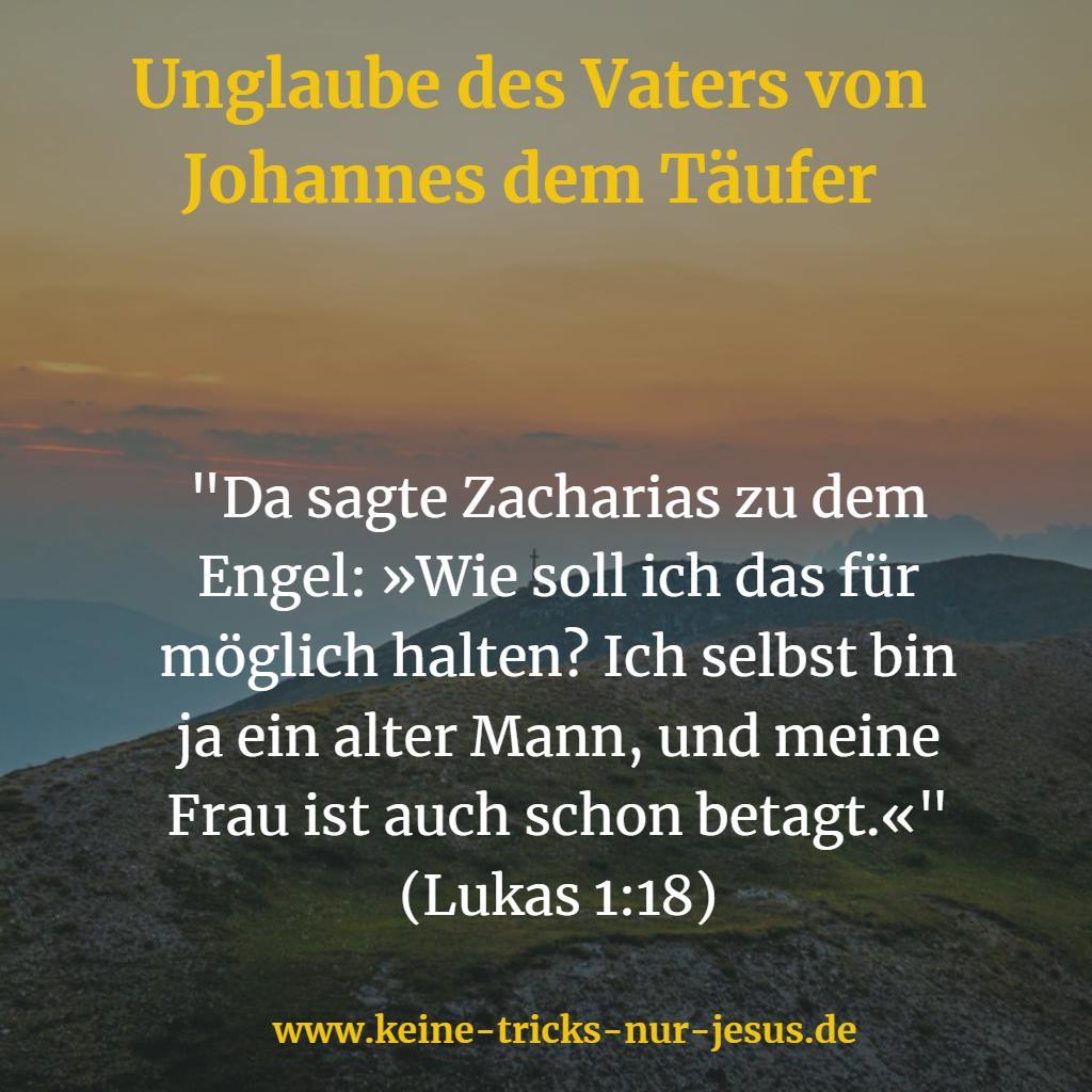Zacharias, der Vater von Johannes dem Täufer