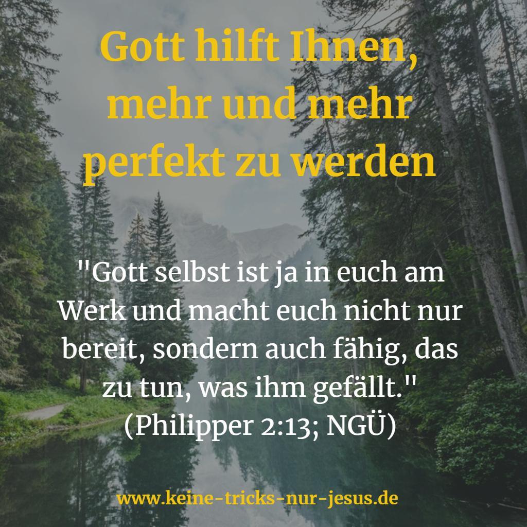 Gott wirkt in uns durch den Heiligen Geist