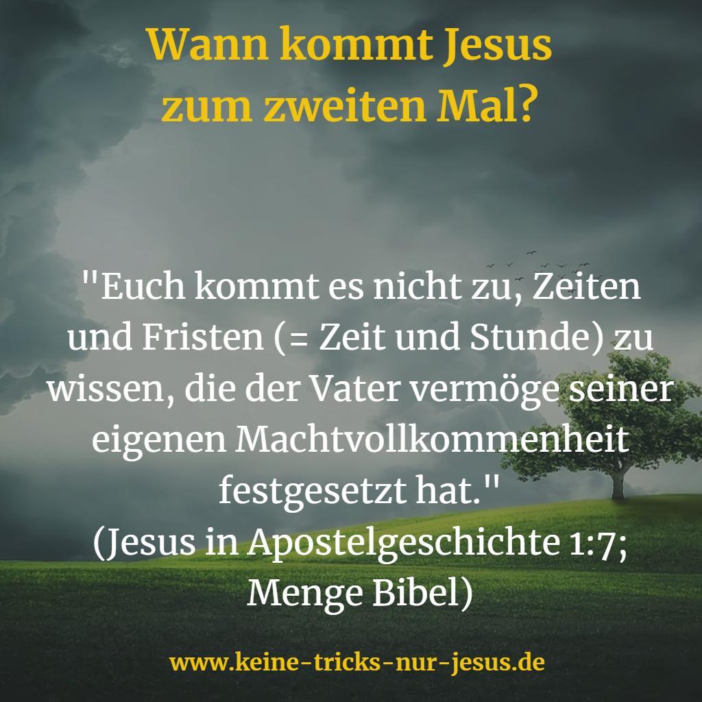 Das zweite Kommen von Jesus