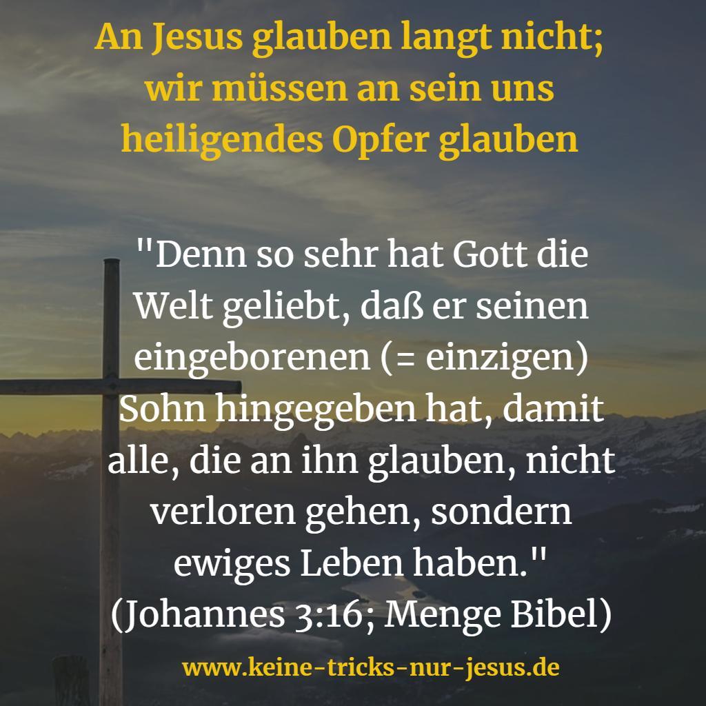 So sehr liebt Gott die Welt