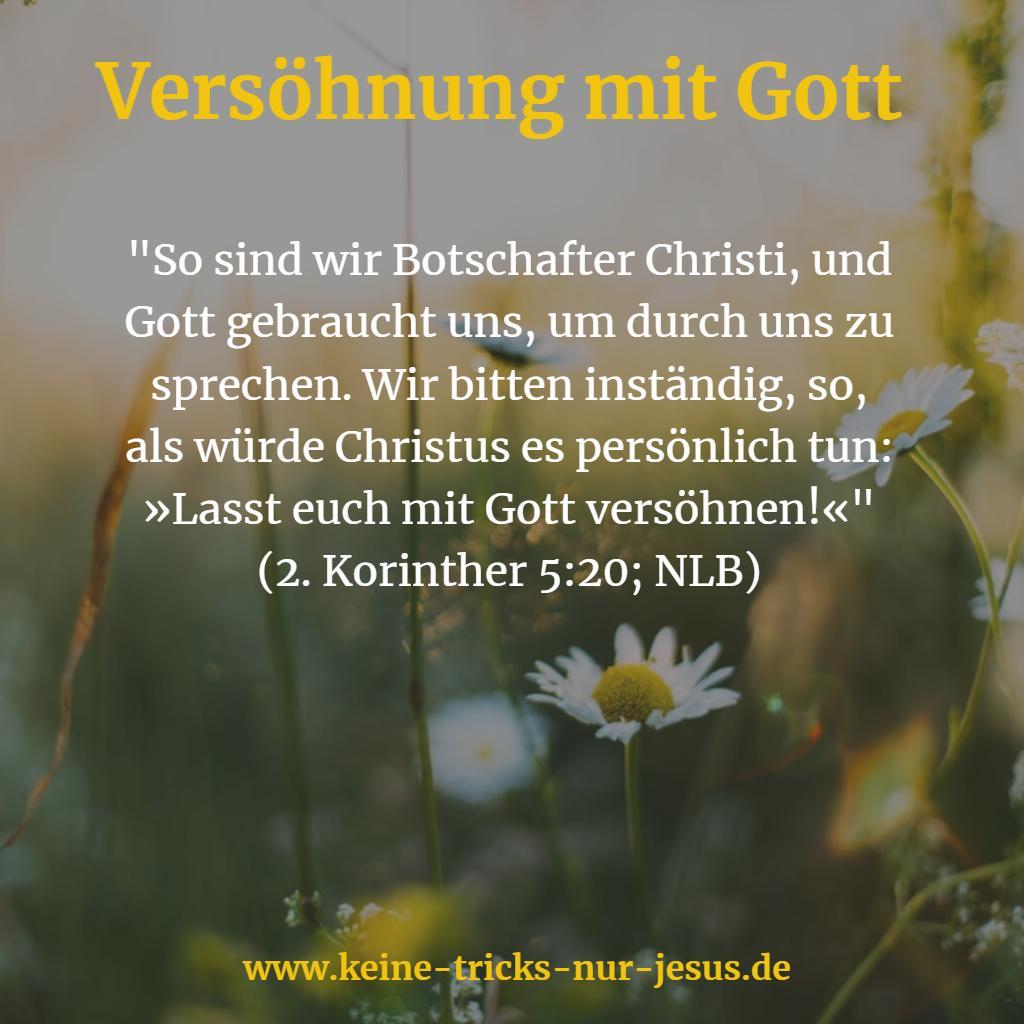 Versöhnung mit Gott