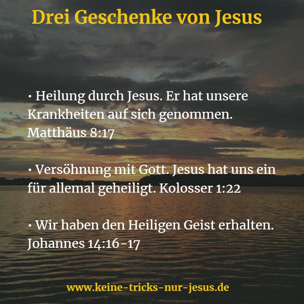 Geschenke von Jesus
