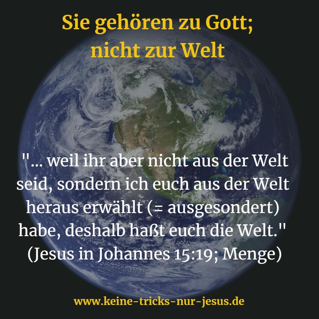 Ausgesondert durch Jesus