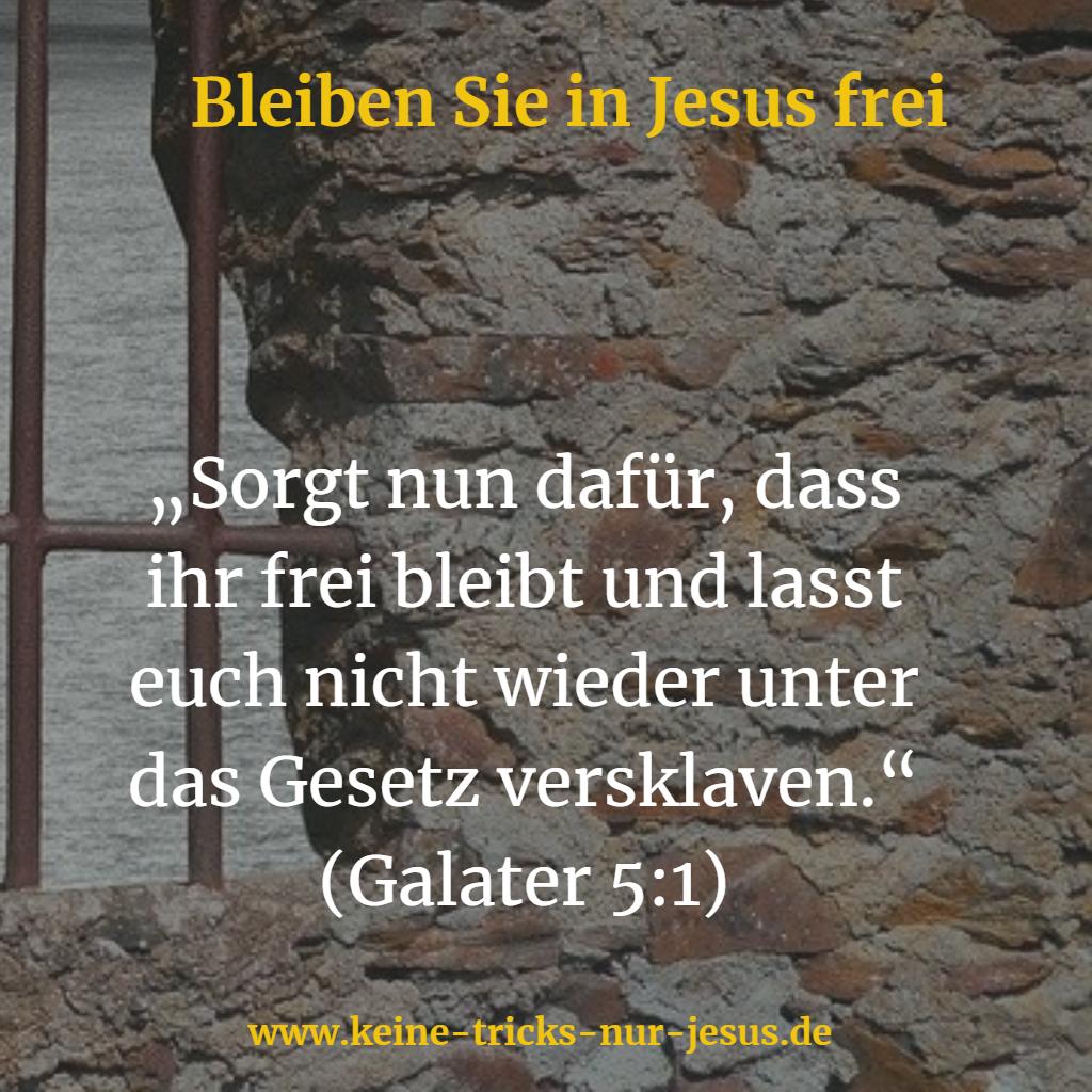 Freiheit in Jesus