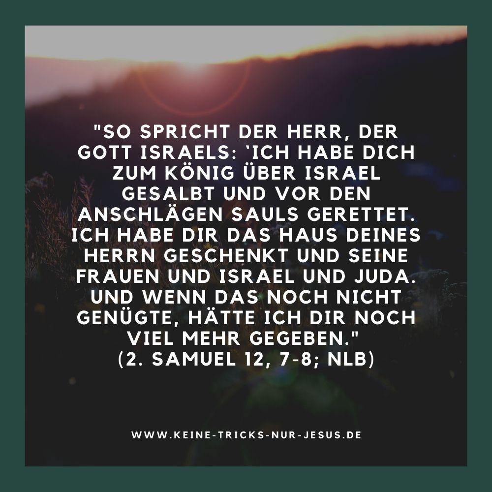 Gott hätte noch viel mehr gegeben - König David